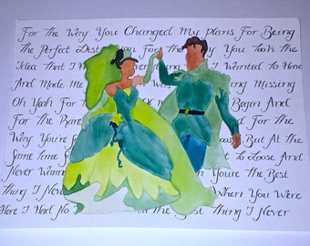 Disney's Tiana and Naveen Painting