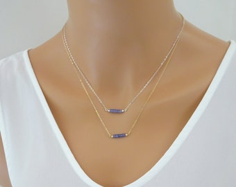 Tanzanite necklace, December Birthstone, Gemstone pendant