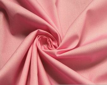 Fabric pure cotton poplin pink