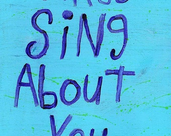Birds Original WORD ART Painting - Nayarts - Sing about you