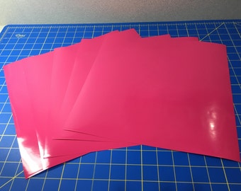 Oracal 651 Adhesive Vinyl Cricut 12 12x12 Sheets Permanent Hot Pink
