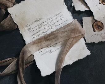The Maria / Wedding Invitation / Wedding Stationery / Cotton Paper Invitation