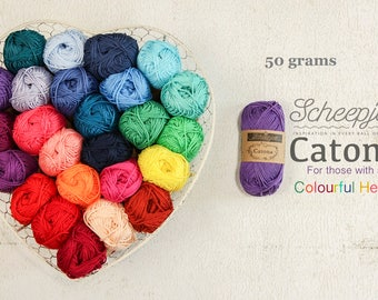 Scheepjes Catona 50g Mercerized Cotton - Scheepjeswol cotton yarn