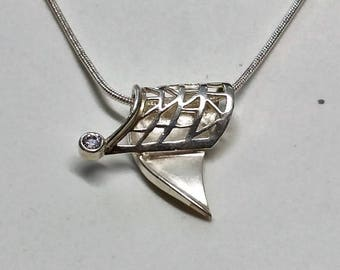 Designer 925 Silver Pendant Crystal rar SK1170