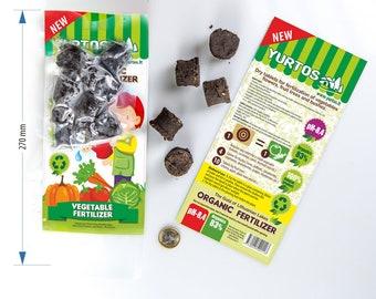 100% Organic Sapropel Fertilizer Tablets for Vagetables - 30 pieces.