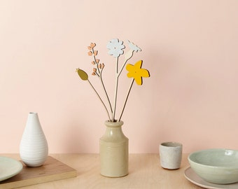 Wooden flowers - plywood flowers - The Wild-flower Set