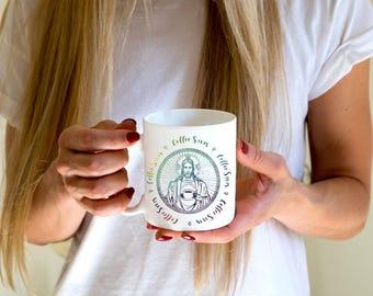 ON SALE - Jesus Mug - Coffee Saves- Coffee Mug