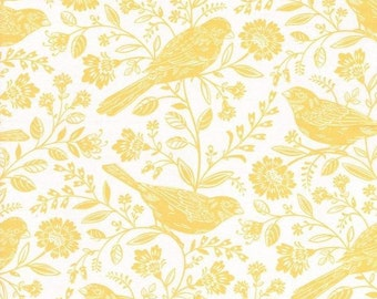 RJR Fabrics; 'Garden Birds' Fabric By The Yard, Chirp by Alex Anderson, 2641-2