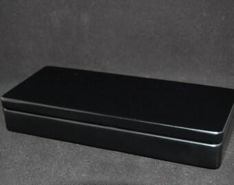 Deluxe Black Enameled Wood Presentation Case