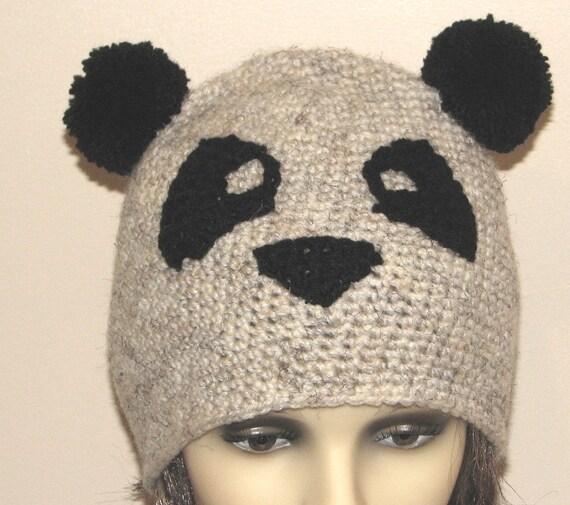 Crochet Pattern For Panda Hat Instant Download Pdf