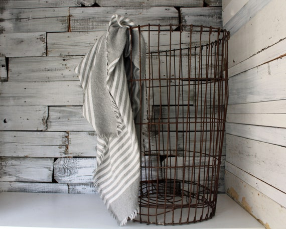 Antique Wire Basket Large Wire Laundry Basket Vintage Wire