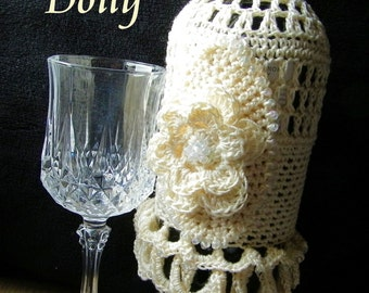 Crocheted Bottle Doily Pattern