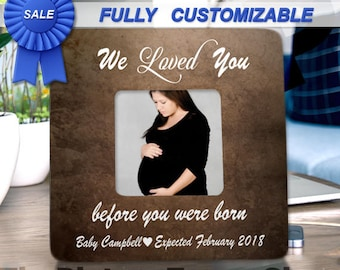 Ultrasound Frame Sonogram Frame Pregnancy Gift  Announcement Gender Reveal New Baby Frame We Loved You Before You were Born Baby Shower Gift