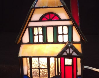 Stained Glass House- Lamp/ Night Light