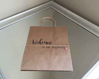 out of town guest bags wedding welcome bags wedding favor
