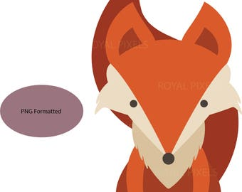 Fox PNG File - Clip Art - Instant Download