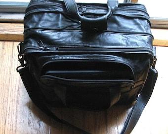ON SALE Tumi Leather Expandable Laptop Organizer Briefcase