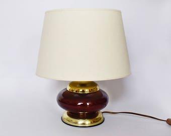 Little Table Lamp from KE MOGENDORF 1970 70s vintage Midcentury luxury style brass resin germany desk