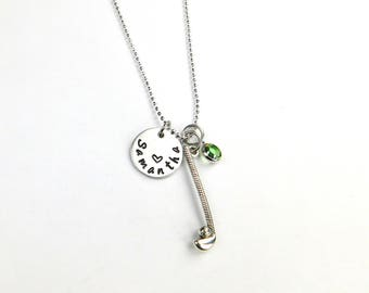 Golf ball pendant etsy golf necklace golfer necklace name necklace golf jewelry sport jewelry sport aloadofball Choice Image