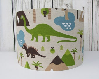 Dinosaur lamp shade etsy dinosaur lampshade boys brown mozeypictures Gallery
