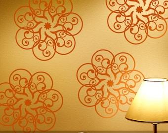 Mandala Decals, Mandala Vinyl Decals, Mandala Wall Decal, Mandala Wall Vinyl, Mandala Wall Vinyl Decal Art (00169d12V)
