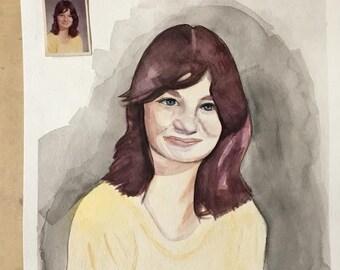 Custom 11x14 Watercolor Portrait