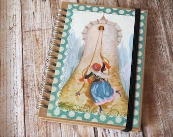 Rapunzel A6 size kraft spiral bound blank notebook - children's book -customised notebook - journal - jotter - notepad
