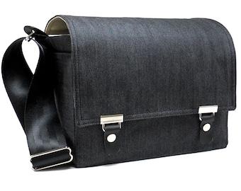 Medium DSLR camera bag with padded insert  - dark denim