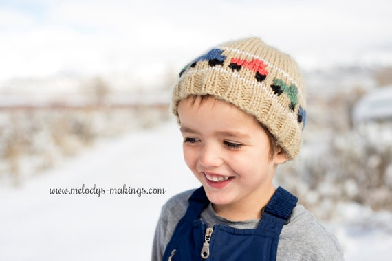 Baby Boy Cable Hat Knitting Pattern 3d