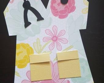 Nurse Scrubs Notecards Spring Flowers and Honeycomb
