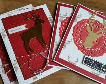 Reindeer cards, 4-pack