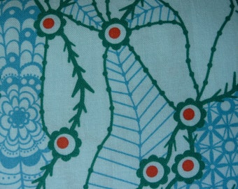 "Anna Maria Horner Field Study ""Migratory Lace"" Aquatic color 100% Cotton Printed Fabric"