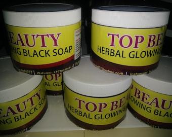 100% organic glowing black soap