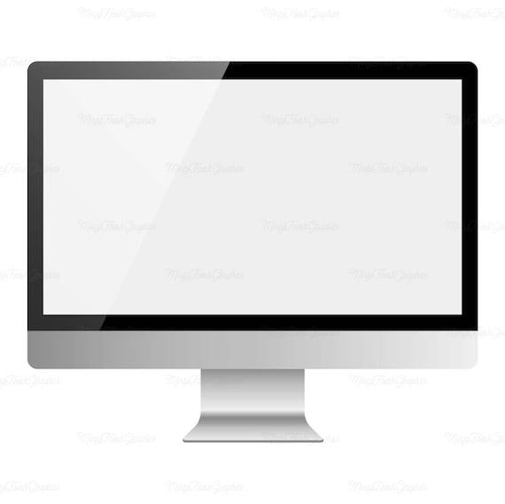 mac mockup desktop computer clipart silver computer rh etsy com mac clip art downloads mac clipart software