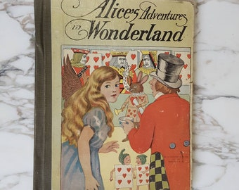 Antique Children's Book Alice's Adventures in Wonderland