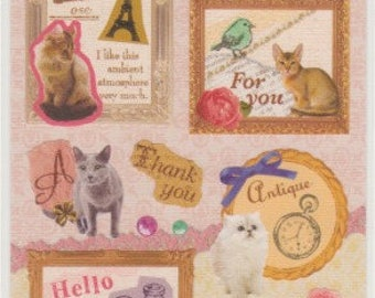Cat Stickers- Frame Stickers - Retro Stickers - Reference A4275