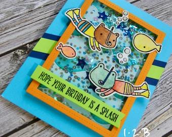 Snorkelling Birthday Shaker Card