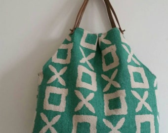 Thick green cloth bag