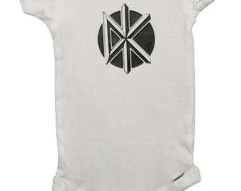 Dead Punk Kennedys Onesie or T-Shirt 2T 3T 4T Baby Punk Rock & Roll Pajamas Bodysuit Jello Biafra California Uber Alles Baby Clothes Shirt