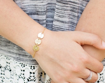 Dainty Gold Silver Rose Charm Personalized bracelet Personalized Women Dainty bracelet Personalized Jewelry Personalized gift / 130