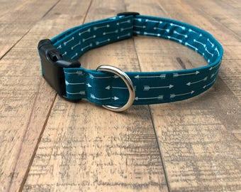 arrow dog collar - turquoise dog collar - arrow turquoise dog collar - arrow collar - girl dog collar - boy dog collar