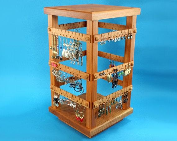 Earring Holder Jewelry Organizer Store Display Cherry