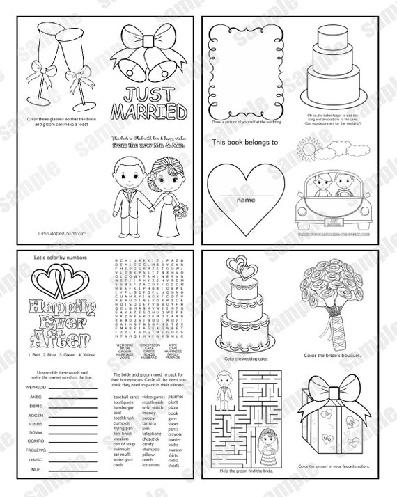 DESCARGAR INSTANT Mini boda imprimibles para colorear libro de