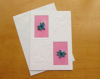 Items similar to quilled greeting card greeting cards quilled card quilled greeting card greeting cards quilled card quilled cards quilled flowers blue flowers plain greeting cards quilling greetings m4hsunfo