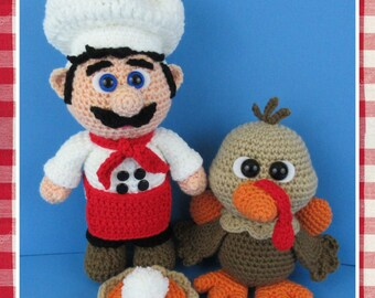 Chef Basil's Thanksgiving Dinner (PDF file only, this is not the finished doll)