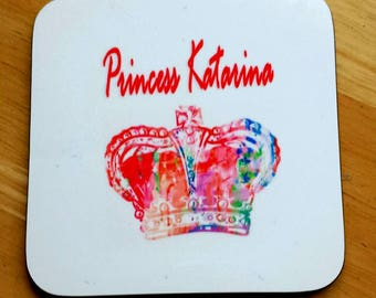Personalised coaster for cups and glasses