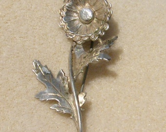 Vintage Flower Brooch - Sterling Silver Stamped .925, Luxurious Pin from JewelryArtistry - BRO15