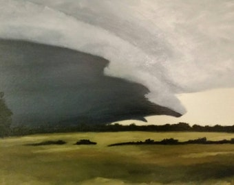 Mississippi Delta Storm - Oil Painting
