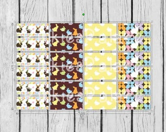 24 Planner Stickers Washi Easter Planner Stickers Spring Planner Stickers PS381g