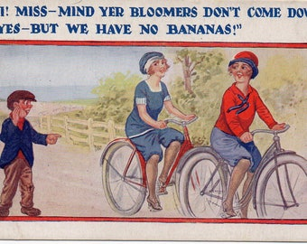 British Humour, vintage postcard, circa 1930s.